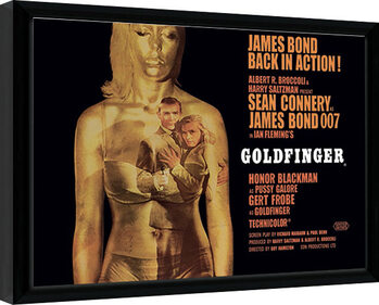 Framed poster James Bond - Goldfinger - Projection