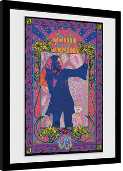 Janis Joplin - Purple Masse Framed poster