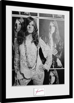 Janis Joplin - Wolman BW Framed poster