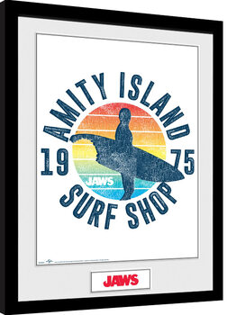 Jaws - Amity Island Surf Shop Framed poster