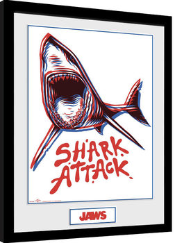 Jaws - Shark Attack Framed poster