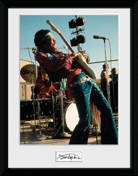 Jimi Hendrix - Live Framed poster