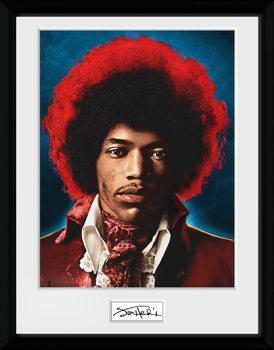 Jimi Hendrix - Sky Framed poster