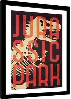 Framed poster Jurassic Park - Skeleton