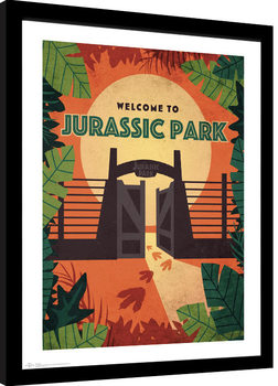 Framed poster Jurassic Park - Welcome