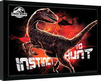 Jurassic World: Fallen Kingdom - Instinct To Hunt Framed poster