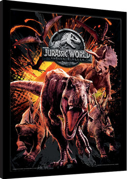 Jurassic World: Fallen Kingdom - Montage Framed poster