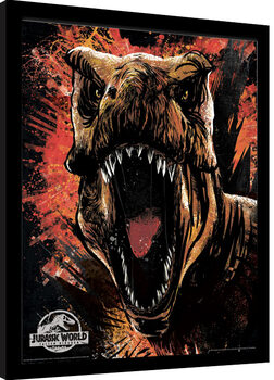 Framed poster Jurassic World Fallen Kingdom - T-Rex Sketch