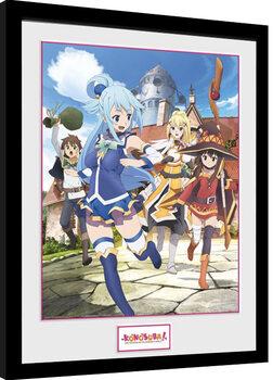 Framed poster Konosuba - Key Art