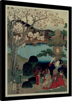 Framed poster Kunisada - History of the Prince Genji, Blossom