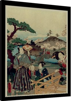 Kunisada - History of the Prince Genji, Noblemen Framed poster