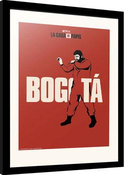 Framed poster La Casa De Papel - Bogota
