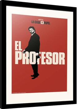 Framed poster La Casa De Papel - El Profesor