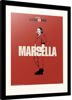Framed poster La Casa De Papel - Marsella