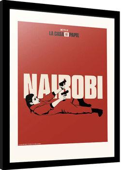 Framed poster La Casa De Papel - Nairobi