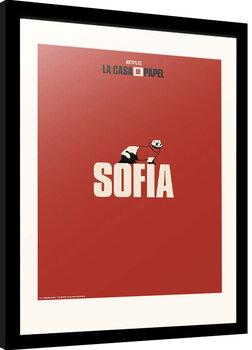 Framed poster La Casa De Papel - Sofia