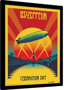 Framed poster Led Zeppelin - Celebration Day