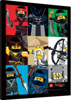 LEGO® Ninjago Movie - Colour Blocks Framed poster