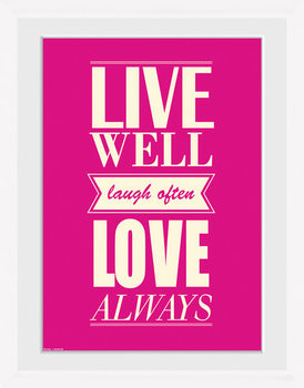 Live - Love Framed poster