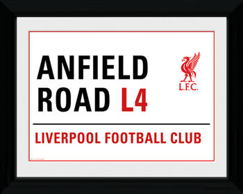 Liverpool - Anfield Street Sign Framed poster