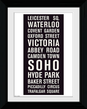 London - Locations Framed poster