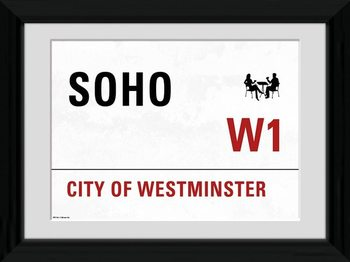 London - Soho Framed poster