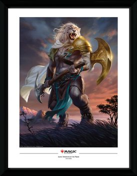 Magic The Gathering - Ajani Strength of the Pride Framed poster