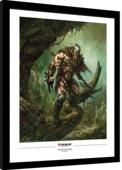 Magic The Gathering - Garruk Wildspeaker Framed poster