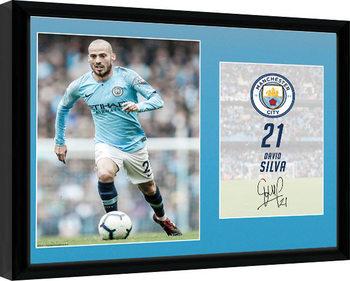 Manchester City - Silva 18-19 Framed poster