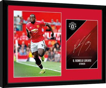 Manchester United - Lukaku 17/18 Framed poster