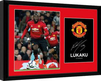 Manchester United - Lukaku 18-19 Framed poster