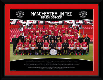 Manchester United - Team Photo 16/17 Framed poster