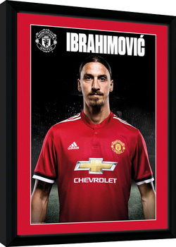 Manchester United - Zlatan Stand 17/18 Framed poster