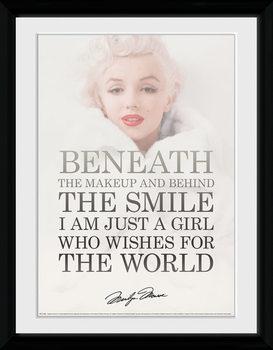 Marilyn Monroe - Beneath plastic frame