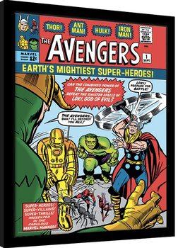 Framed poster Marvel Comics - Avengers vs Loki