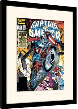 Framed poster Marvel Comics - Captain America Fighting Chance