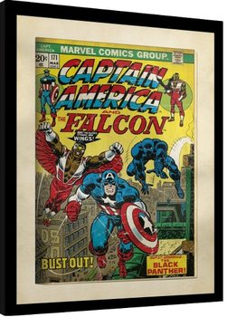 Framed poster Marvel Comics - Captain America