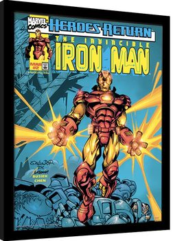 Framed poster Marvel Comics - Iron Man Heroes Return