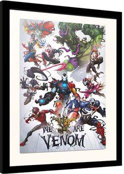 Framed poster Marvel - We Are Venom