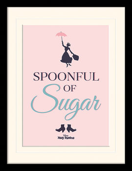 Mary Poppins - Spoonful of Sugar Framed poster