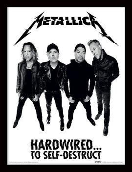 Metallica - Hardwired Band Framed poster