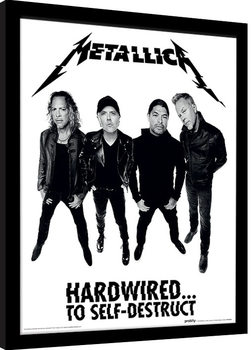 Framed poster Metallica - Hardwired Band