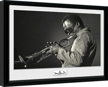 Miles Davis - Portrait Framed poster