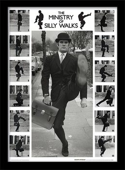 MONTY PYTHON - ministry of silly walks Framed poster