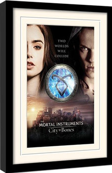 MORTAL INSTRUMENTS : MĚSTO Z KOSTÍ – two worlds  Framed poster