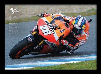 MOTO GP - Pedrosa Framed poster
