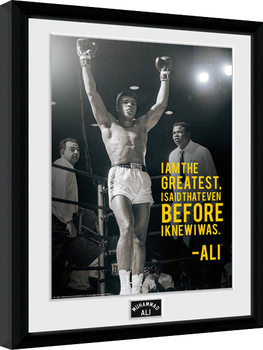 Muhammad Ali - I Am The Greatest Framed poster