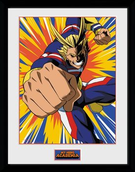 My Hero Academia - All Might Action Framed poster