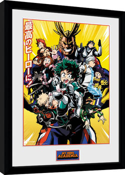 My Hero Academia - Season 1 Framed poster