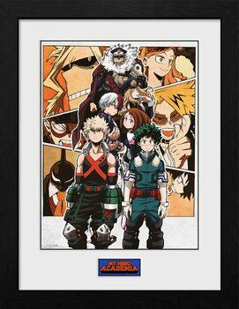 Framed poster My Hero Academia - Season 4 Key Art 1